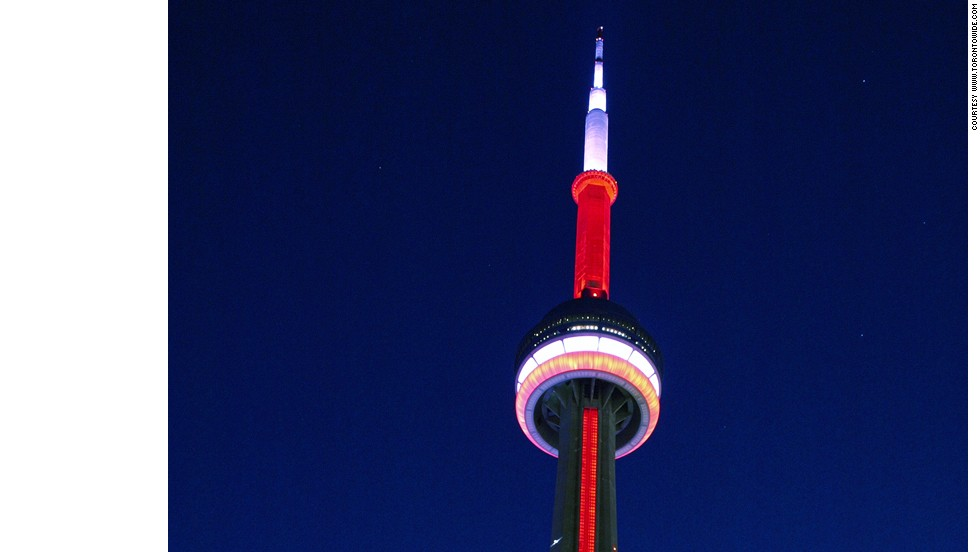 The CN Tower was built to withstand an earthquake of 8.5 on the Richter scale.<br />It was the world's tallest building when it was completed in 1976 and designed to withstand winds of up to 418 kph (260 mph). But strong winds and earthquakes are not the only factors the building has to contend with -- on average, lightning strikes the tower 75 times every year. Long copper strips, which run down the side of the building and are attached to grounding rods buried below ground, protect the structure from damage. <strong>Completion date:</strong> October 1, 1976.