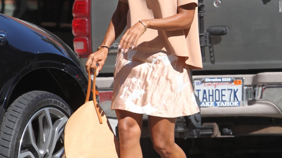 Jada Pinkett Smith wears a summery ensemble as she steps out in Beverly Hills on June 26.