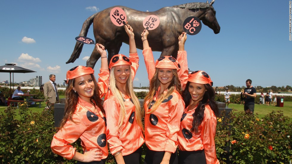 Unless of course, you're competing against Australian wonder mare Black Caviar. The female thoroughbred (immortalized in a statue, pictured) retired last year after 25 consecutive wins.