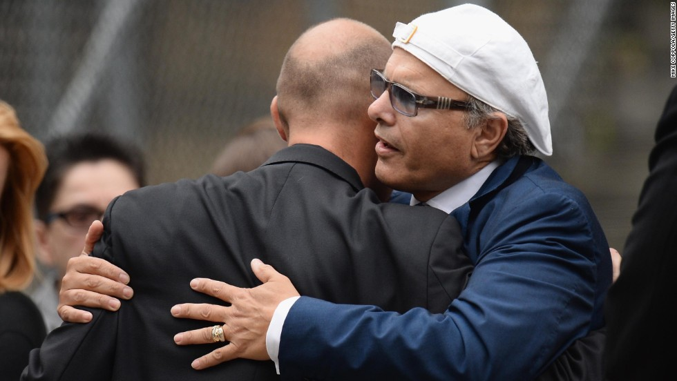 Joe Pantoliano attends the funeral.