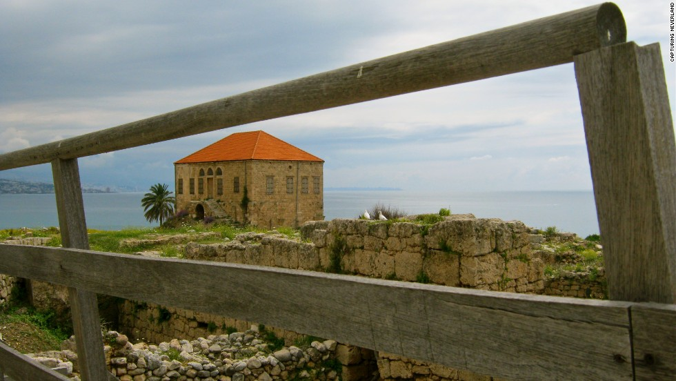 A 16-year-old child named Atallah captured this image of a seaside home during one of the workshop field trips in Lebanon.