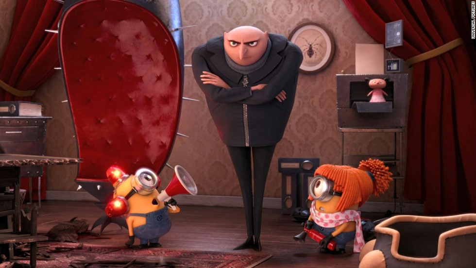 "<strong>No. 6:</strong> Steve Carell's Gru and his sunny yellow minions are anything but ""Despicable."" Some critics dismissed this sequel to 2010's ""Despicable Me,"" but the audience was more enthusiastic, according to <a href=""http://www.rottentomatoes.com/m/despicable_me_2/"" target=""_blank"">Rotten Tomatoes</a> -- and it shows in your votes."