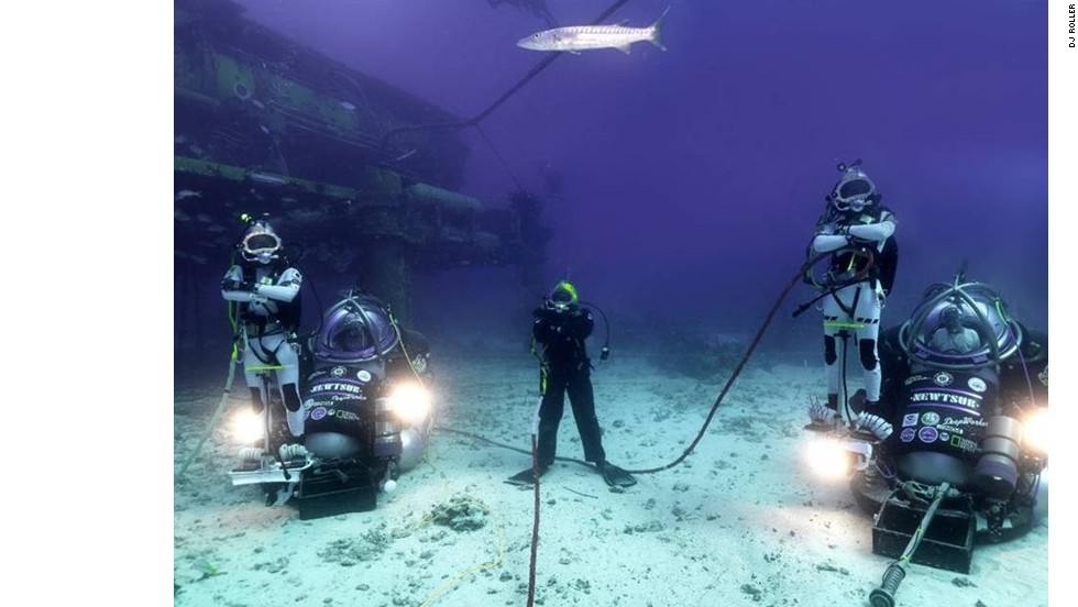 With their high-tech scuba gear and futuristic motorbikes, this team of five divers look like something from an outer space mission. In fact, they're part of an ambitious project to live underwater for 31 days.