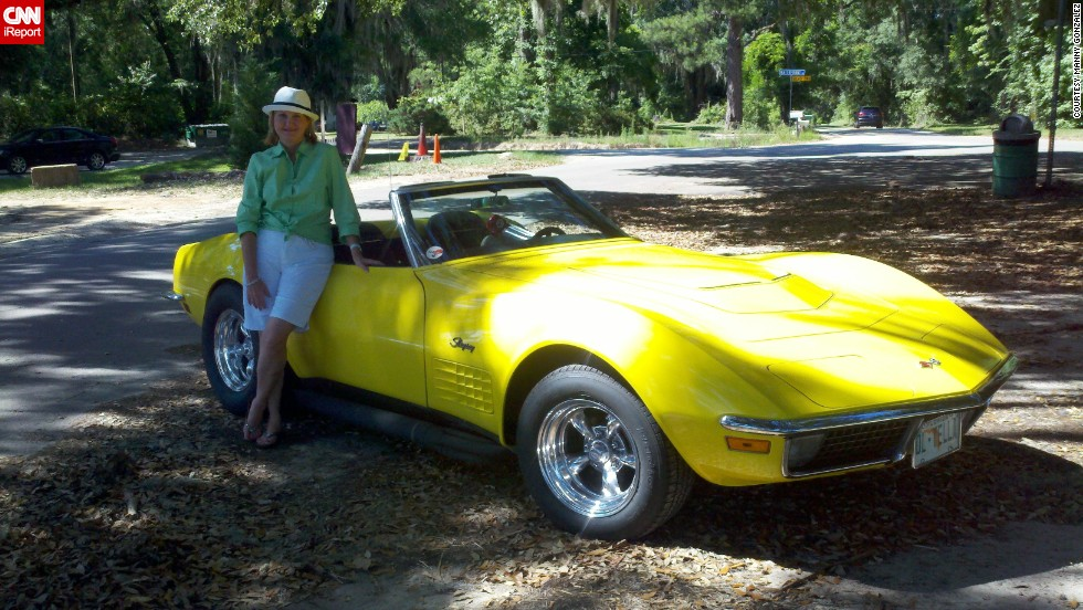 "<a href=""http://ireport.cnn.com/docs/DOC-996762"">Manny Gonzalez </a>photographed his wife standing next to his 1970 Corvette LT-1 Convertible. He's proud to say he is the original owner, purchasing the car in August 1970. ""This Corvette has a lot of history and many great memories, but it was the beast that it is, that gave me goose bumps. Fast with great handling."""