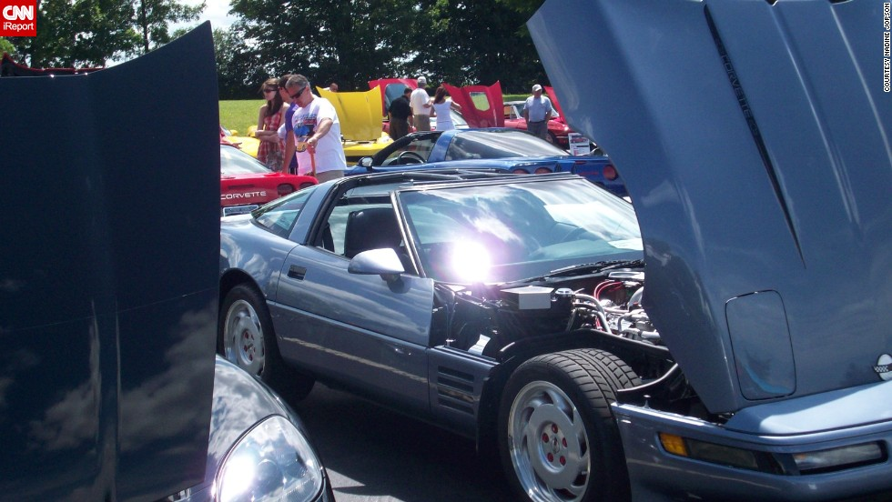 "<a href=""http://ireport.cnn.com/docs/DOC-997014"">Nadine Jopson </a>photographed Misty, her 1991 Corvette Coupe, getting ready for a parade in Greece, New York, back in 2012. ""She loves hanging out with other 'vettes,"" she said."