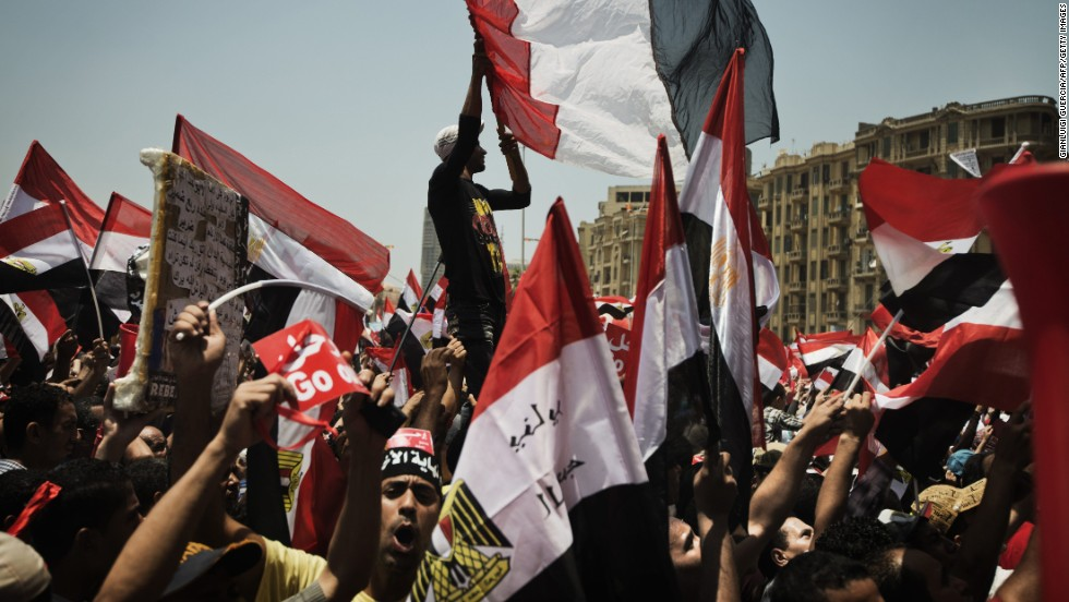 The demonstrators say they collected 17 million signatures -- roughly 4 million more than what won Morsy the presidency -- and all of them call for Morsy to go.