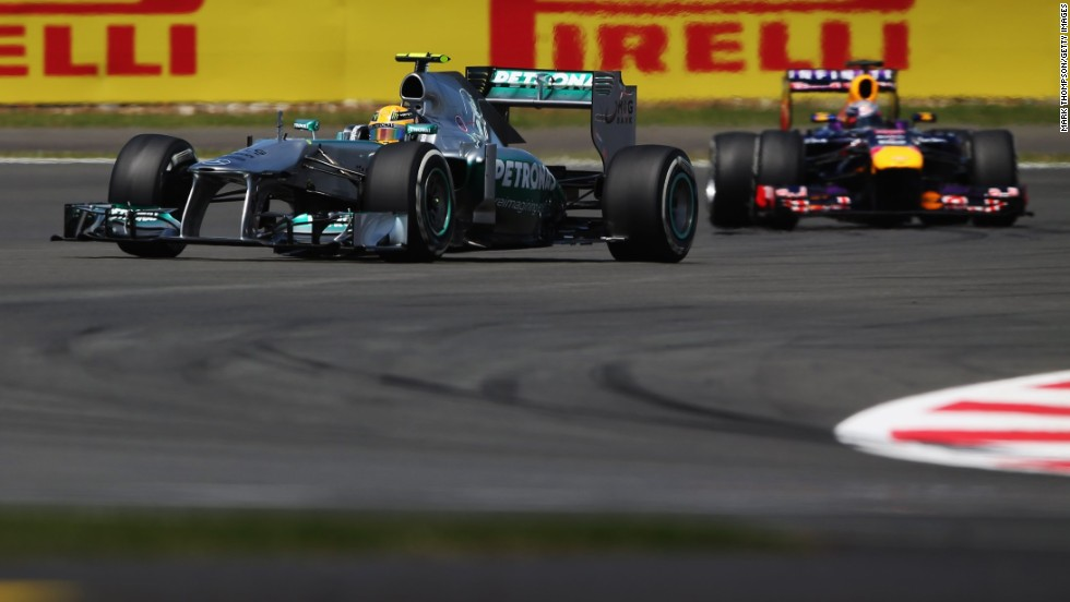 Hamilton lead in the early stages of the race, but then disaster struck.....