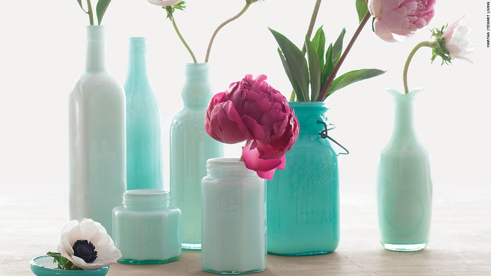 Transform everyday vessels into elegant vases by coating their interiors with glass enamel.