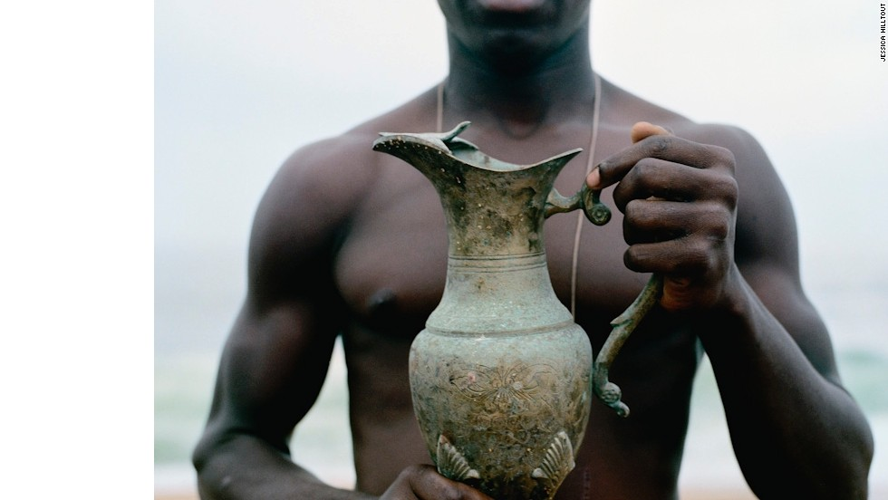 "This trophy was won by Etoile Brillante d'Eburnie, a team in Abidjan, Ivory Coast. Hilltout said: ""I think this must be one of the most beautiful football trophies I have ever seen."""