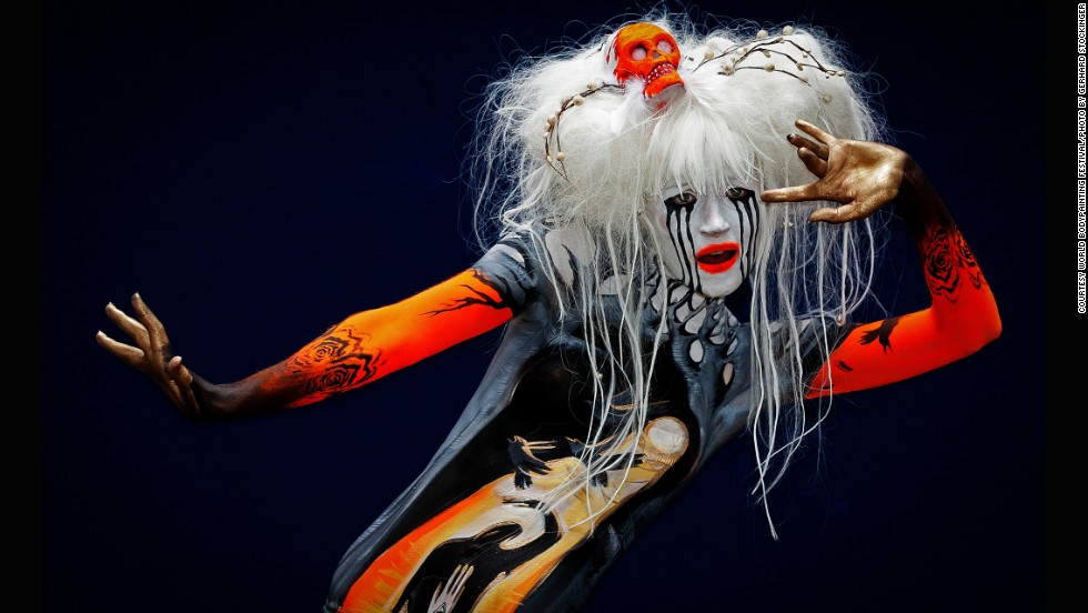 "The World Bodypainting Festival meets in Pörtschach, Austria every year with the aim to demonstrate that body art is more than just ""coloring in some bodies,"" but is an elevated art form all its own."