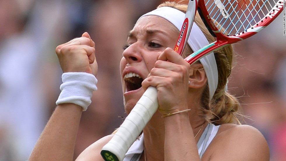 Lisicki was overcome with emotion after hitting the winning shot and sank to her knees on court before being congratulated by Williams.