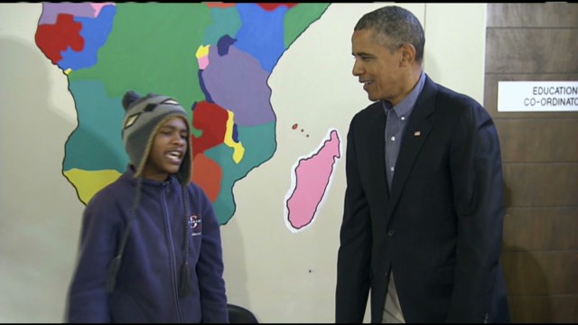 South African student raps for Obama