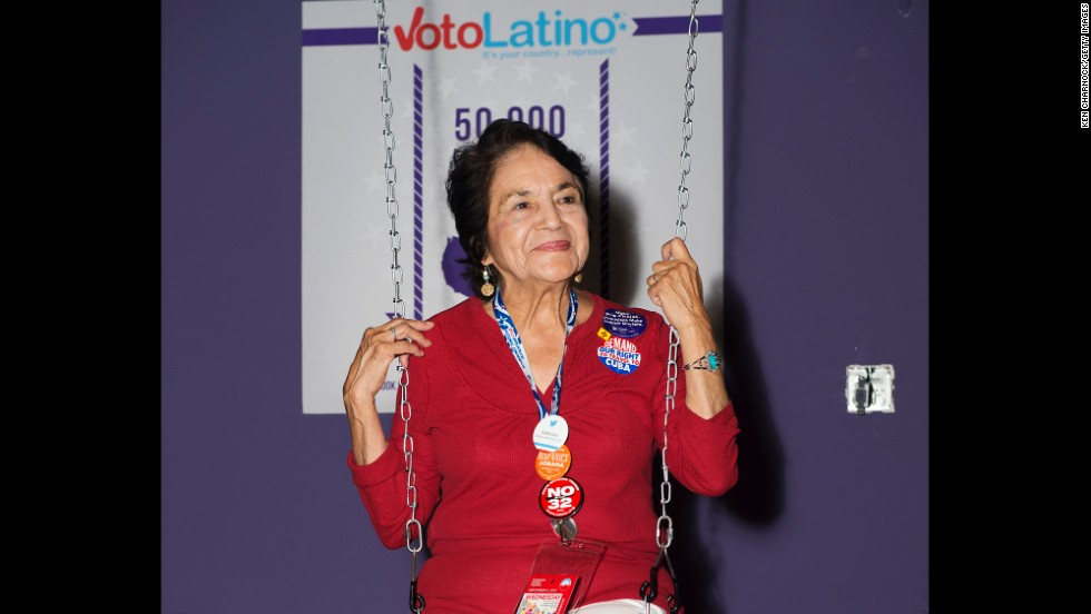 Huerta attends Voto Latino's Purple Carpet Bash at All American Pub on September 5, 2012, in Charlotte, North Carolina.