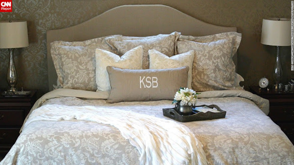 "<a href=""http://ireport.cnn.com/docs/DOC-996219"">Kate Connor</a> from Illinois loves a high-end look but hates the price that comes with it. A designer headboard inspired her to create her own, which she even created a tutorial for on her blog <a href=""http://chiconashoestringdecorating.blogspot.com/2012/03/how-to-make-upholstered-headboard.html"" target=""_blank"">Chic on a Shoestring Decorating</a>."