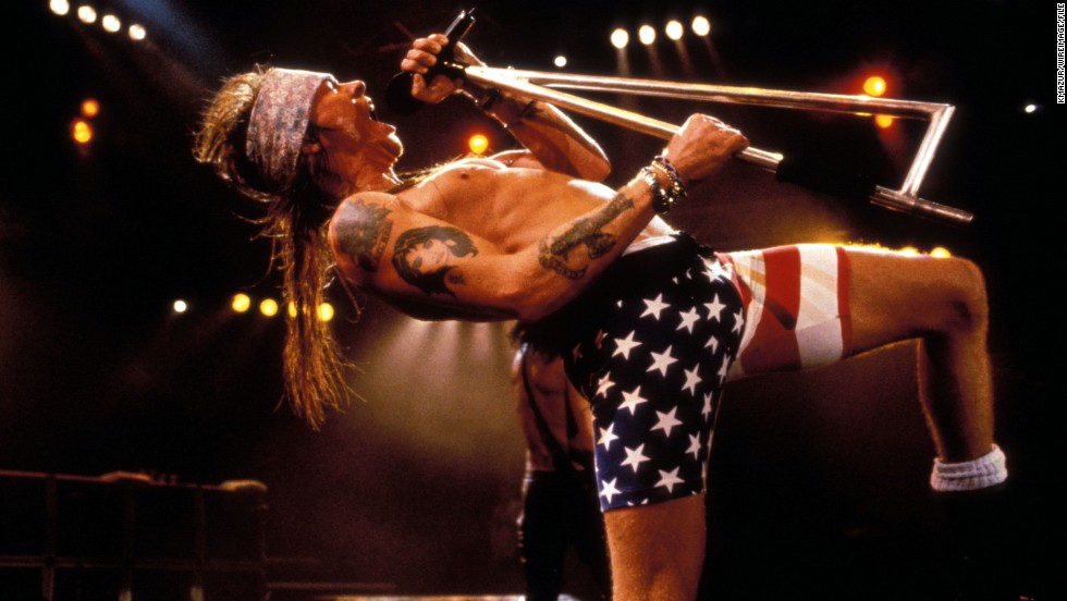 "In 1991, Axl Rose kicked off a ""full-fledged riot"" at a Guns N' Roses show in Missouri when he stormed off the stage. According to the <a href=""http://articles.latimes.com/1991-07-04/entertainment/ca-2490_1_axl-rose"" target=""_blank"">Los Angeles Times,</a> the rocker didn't like that security allowed a video camera onto the premises, jumped off stage to try to grab it from the fan himself and, when failing to recover the camera, went back on stage only to drop his mic and march straight off."
