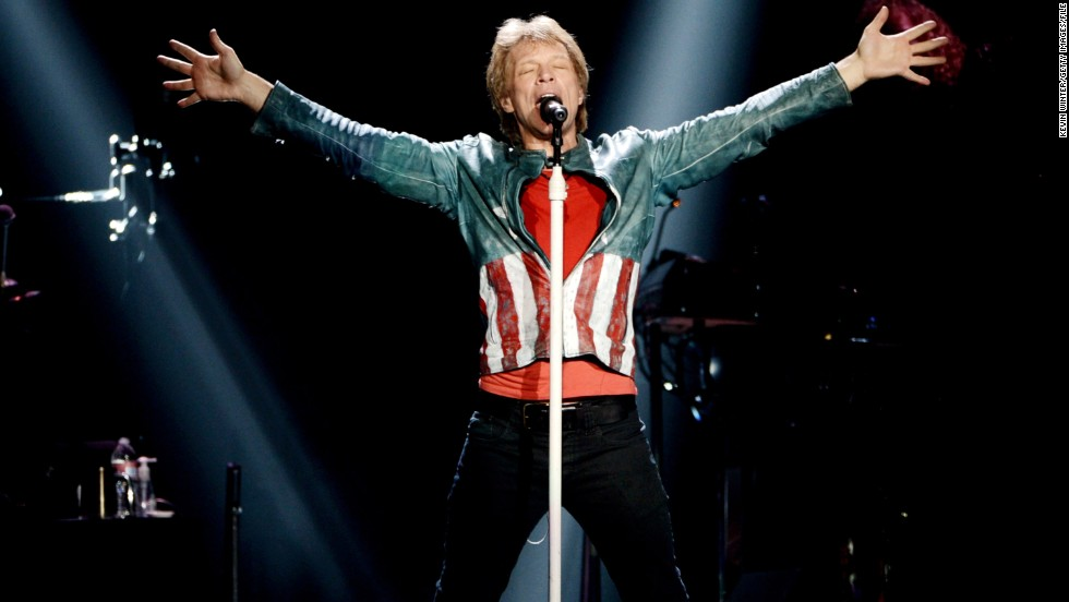 Who else but Jon Bon Jovi could pull off this American-flag inspired jacket?