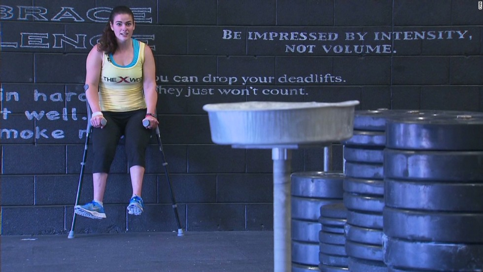 "Stephanie Hammerman wasn't always in love with going to the gym, but it's something that became important to her after she lost one of her best friends. Hammerman is the first certified CrossFit trainer in the world with cerebral palsy. <a href=""http://www.cnn.com/2013/07/03/health/human-factor-hammerman/index.html"">Read more</a>."