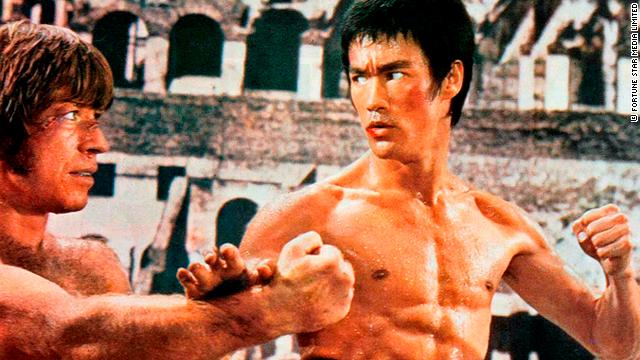 "Bruce Lee in ""The Way of the Dragon,"" with Chuck Norris."