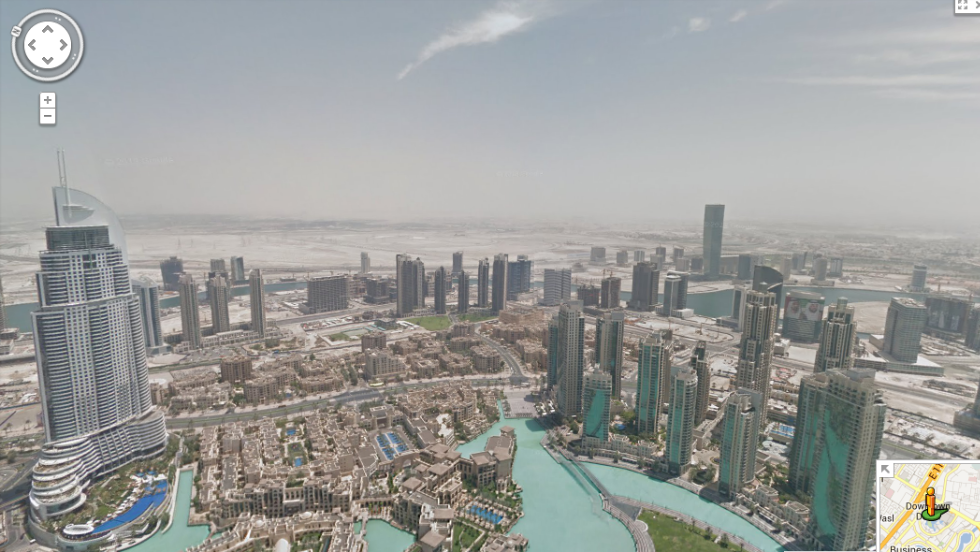 The incredible view from the 80th floor of the Burj Khalifa, captured by Google Street View.