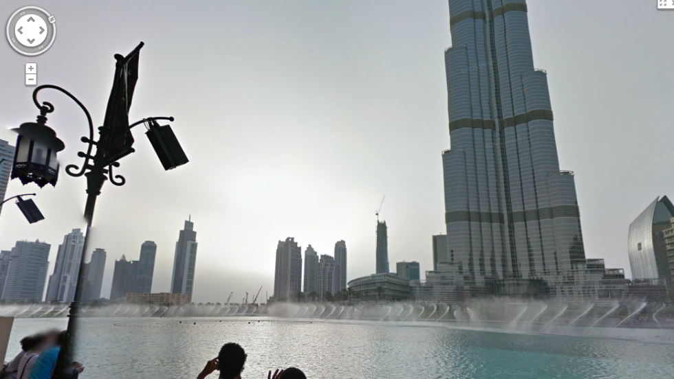 The project also captures the Burj Khalifa's surrounding grounds, including the fountains in the building's forecourt.