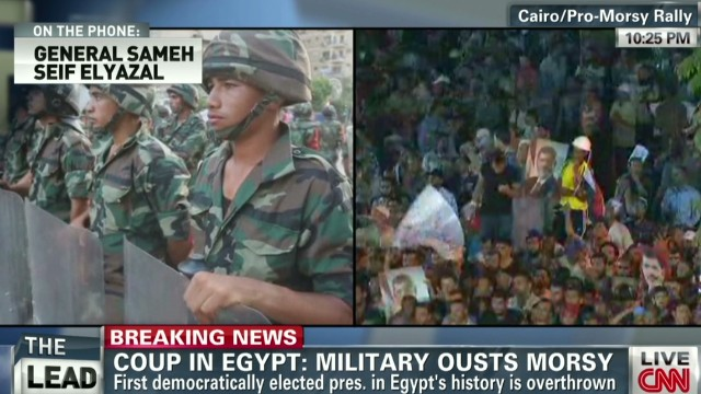 Egyptian general: This isn't a coup