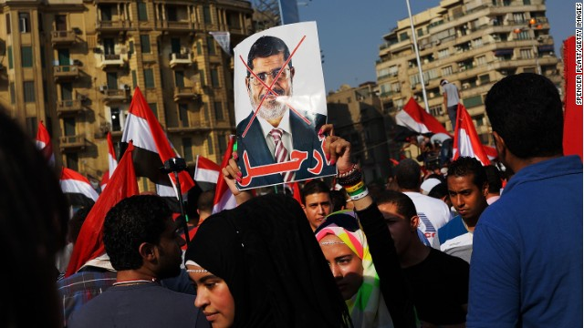 Where is fmr. Egyptian President Morsy?
