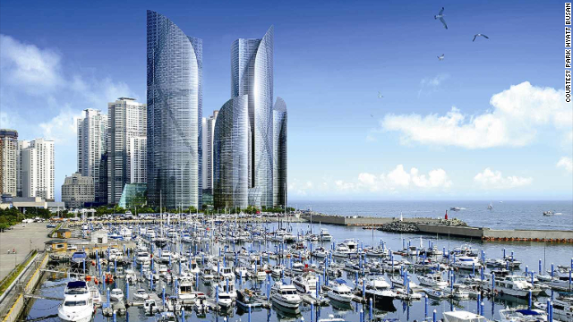 Park Hyatt Busan: latest addition to Busan's Marine City.