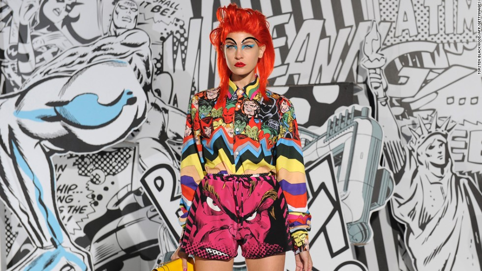 "Marvel Comics inspired ""Romance Was Born"" apparel was on display at Sydney Fashion Week on April 2012."
