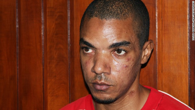 Briton Jermaine Grant Briton sits in court in Mombasa, Kenya, on May 9, 2012.