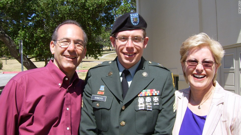 Daniel and his parents, Howard and Jean, celebrate Daniel's graduation from the Defense Language Institute in 2005. After his first deployment to Iraq, Daniel wanted to study Arabic to increase his skill set as an intelligence officer.