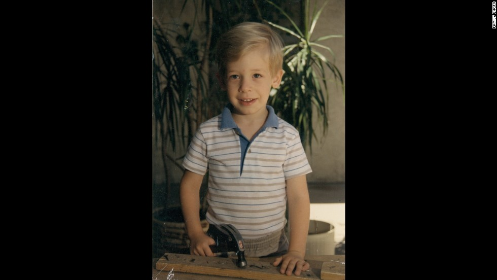 Daniel at age 5. His family said that as a child, he was always interested in music and loved the piano. At age 12, he wrote his first song on the guitar.