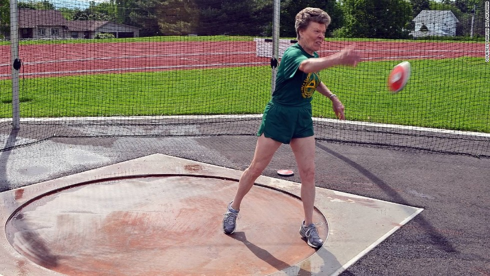 """""""Track and field is very challenging,"""" Meiler says with a laugh. """"People think I'm a little nuts, I think."""""""