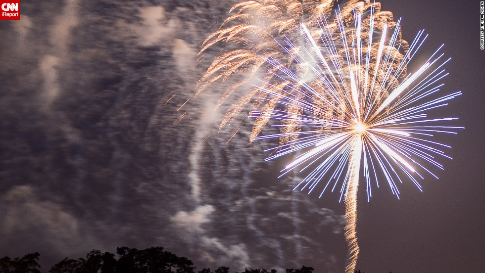 """Andrew Cohen captured this photo at the 2013 Ocean Township, New Jersey, <a href=""""http://ireport.cnn.com/docs/DOC-999985"""">fireworks show</a> on July 3. His tips for the perfect shot? """"Must use tripod, (it helps to use) remote control, and keep shooting."""""""