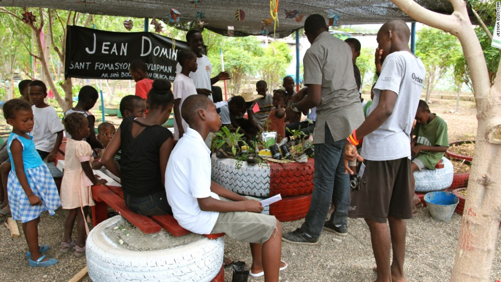 Residents are also encouraged to sell produce at markets.