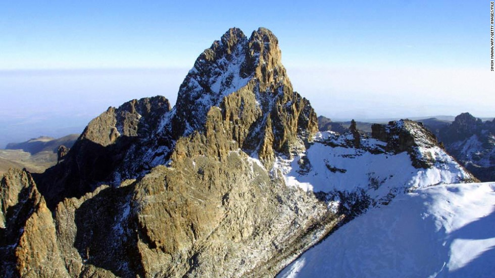 Lying just south of the equator, Mount Kenya is Africa's second highest mountain after Kilimanjaro. The majestic mountain has been designated a UNESCO World Heritage site since 1997. <em>Peak: 5,199 meters</em>