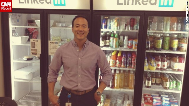 As a LinkedIn intern, Tom Pae is privileged to have company perks.