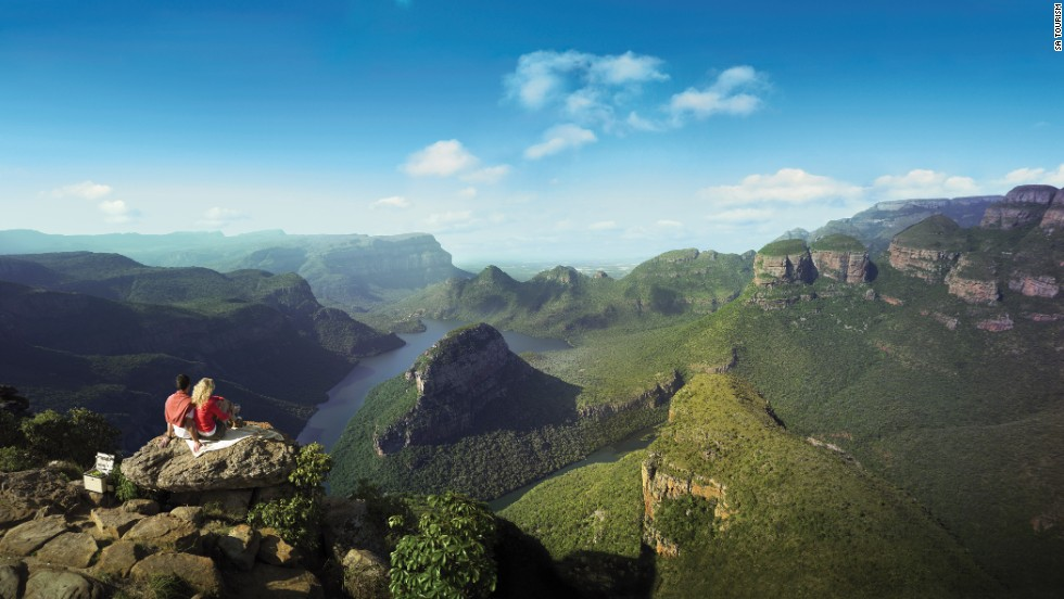 Stunning views, crisp air and powerful cascades are all major incentives to hike The Drakensberg, a massive mountainous range dominating the skyline of southern Africa. <em>Peak: 3,475 meters.</em>