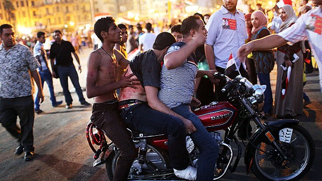 Violence in streets of Cairo after coup