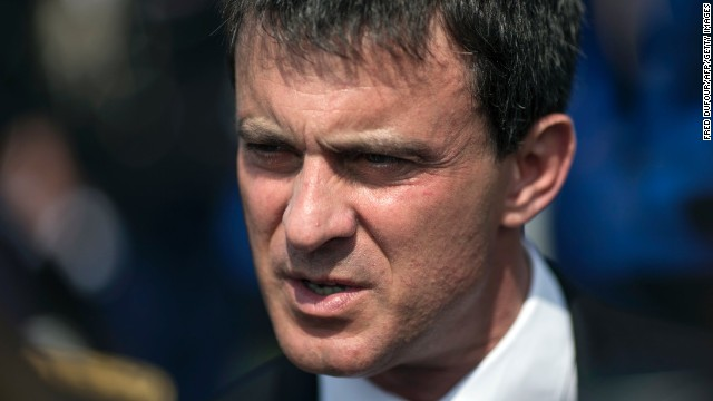 French Interior Minister Manuel Valls at the Officers School of the National Gendarmerie in Melun on July 2, 2013.