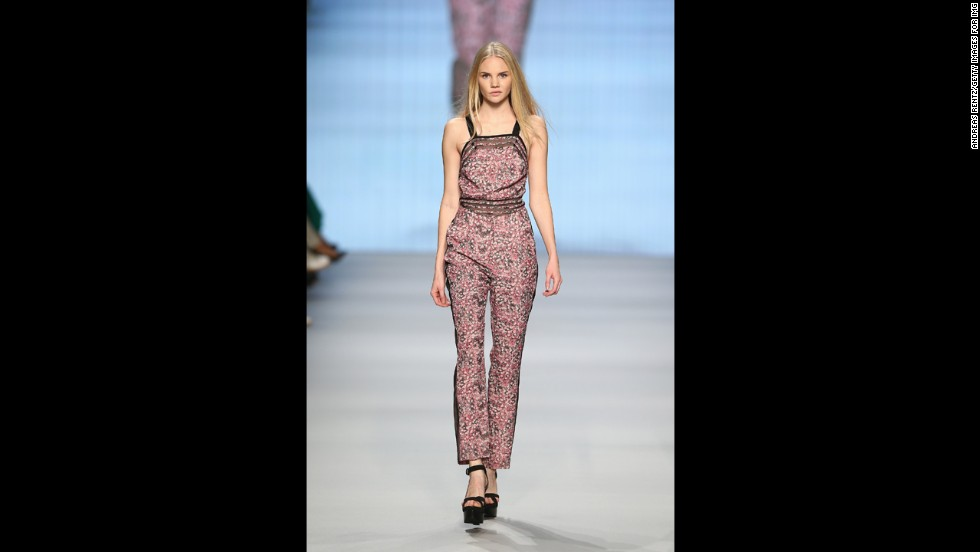 Jumpsuits, such as this one by Charlotte Ronson, made of whisper-thin cotton offer maximum body coverage and comfort in the heat of summer.