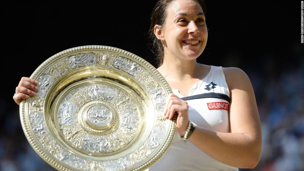 The announcement came just six weeks after the Frenchwoman won her first grand slam title at Wimbledon.