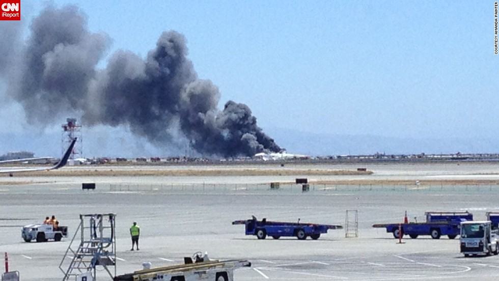 CNN iReporter Amanda Painter took this photo while waiting at the San Francisco airport on July 6. The entire airport has shut down and flights diverted to other airports.