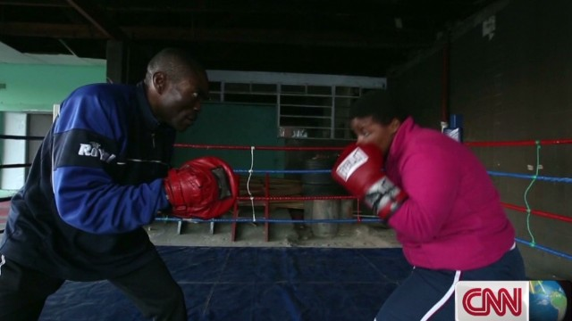 Boxing ring transforms 'good girl' champ