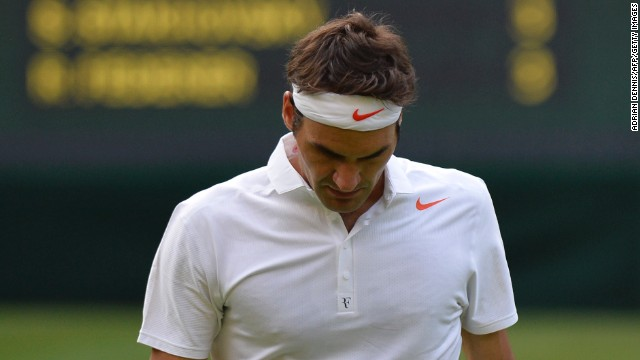 Roger Federer's second-round loss at Wimbledon sent the 17-time grand slam winner's ranking outside the top four.