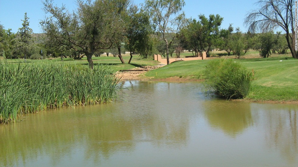 On 72 hectares of Namibian bushveld outside the capital city, Windhoek's wetlands come into play on three holes. Plenty of deep bunkers surround most greens, making the course a great challenge for golfers of all skill levels.