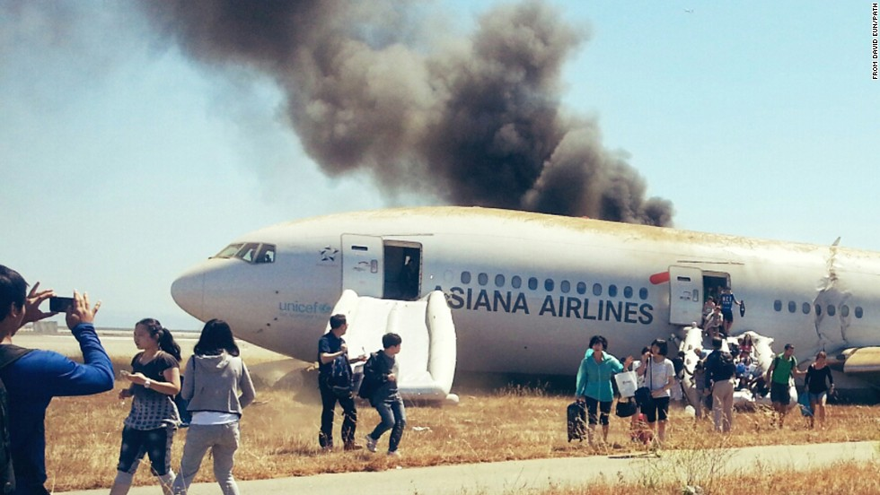 In an apparent joke (blamed on an intern), a Bay Area TV station used incorrect and racially offensive names to identify pilots of an Asiana Airlines flight that crashed in San Francisco. Following the accident, a United Airlines employee and his fiancee allegedly stole luggage collected from the flight.