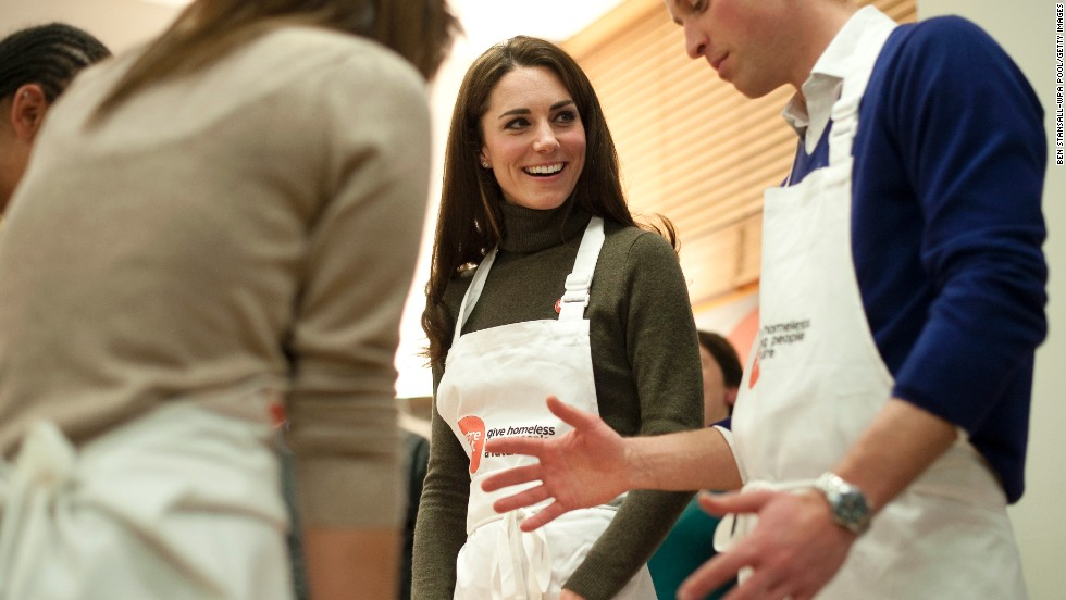 "As part of their charity work, the couple attended a ""healthy living cookery session"" in London in December 2011."