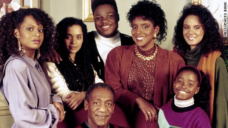 THE COSBY SHOW -- Season 6 -- Pictured: (l-r) (bottom) Bill Cosby as Doctor Heathcliff 'Cliff' Huxtable, (top row) (l-r) Tempestt Bledsoe as Vanessa Huxtable, Lisa Bonet as Denise Huxtable Kendall, Malcolm-Jamal Warner as Theodore 'Theo' Huxtable, Phylicia Rashad as Clair Hanks Huxtable, Keshia Knight Pulliam as Rudy Huxtable, Sabrina Le Beauf as Sondra Huxtable Tibideaux -- Photo by: NBCU Photo Bank