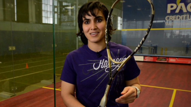 Female squash player fights for freedom