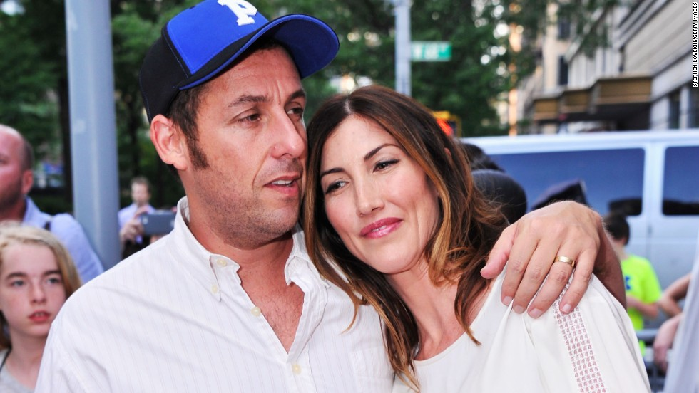 "Adam and Jackie Sandler arrive at the July 10 premiere of ""Grown Ups 2"" in New York City."